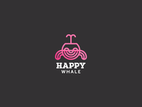 Happy Whale Logo