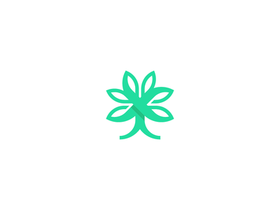 Tree Logo nature logo tree logo green tree logo symbol nature leaf