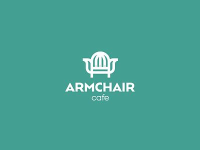 Armchair Cafe Logo branding identity line logodesigner logodesign mark symbol logo cafe armchair