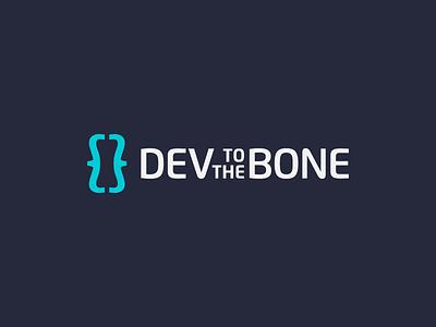 Dev To The Bone Logo modern logo clean logo brackets simple logo developer software app code dev logo dev logodesign logo