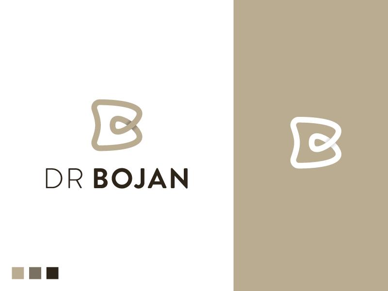 Dr Bojan Logo tooth proffesional office medicine family dental care dental b mark logo branding