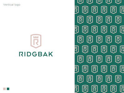 Ridgebak Proposal royal logo luxury logo holding company insurance logo accounting consulting management shield logo pattern shield logodesign logo