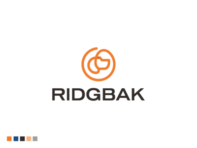 Ridgbak Vertical Logo corporate logo animal logos dog logo dog management consulting animal logo