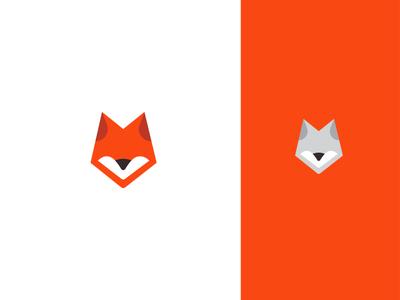 Fox Symbol head modern tech logo software app animal nature fox symbol animal logo mark symbol logo