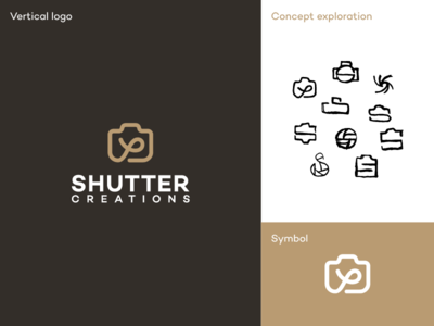 Shutter Logo minimal logo logodesigner logodesign logo high quality service photo camera creations photography shutter