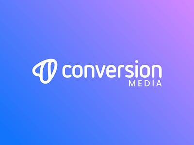 Conversion media unused logo proposal conversion rate logodesigner logodesign software company logo seo marketing logo agency logo media conversion