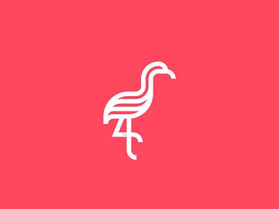 Flamingo 2 logo logodesign animals bird logo nature lineart flamingo animal logo animal