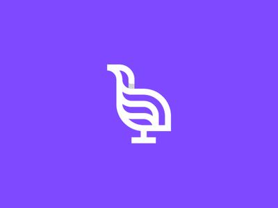bird 3 logo icon symbol brand branding creative design creative branding dropshadow purple logo logodesign nature symbol fauna lineart animal logo bird