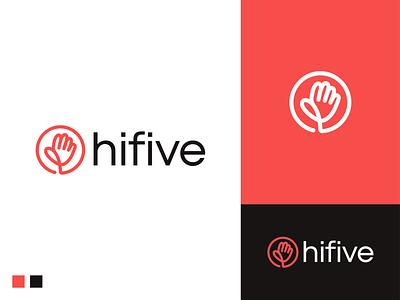 hifive logo original creative visual identity bradning logodesigner logodesign app icon application app software startup logo startup hifive five hi