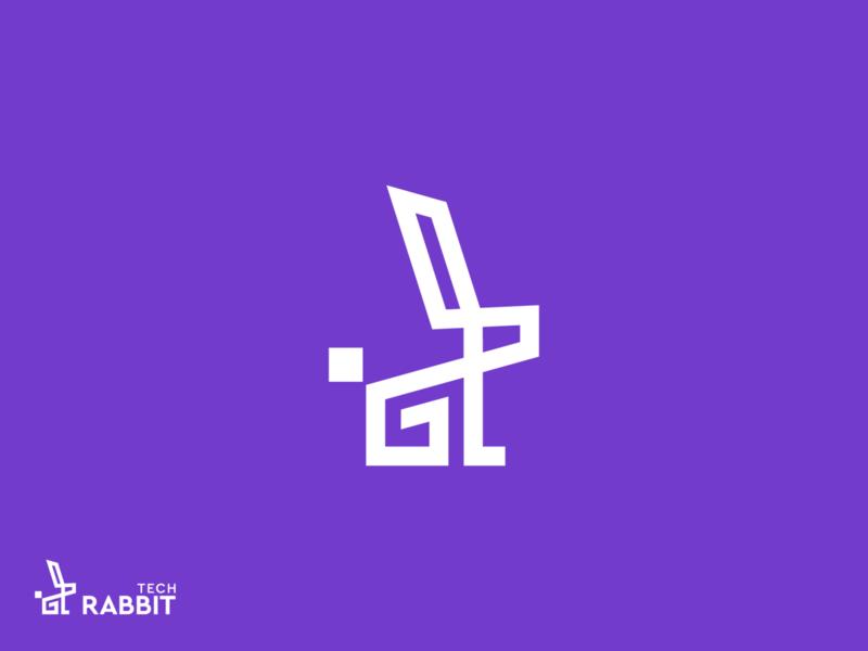 tech rabbit symbol visual identity tech startup logo startup software rabbit creative bunny branding app logo application app icon