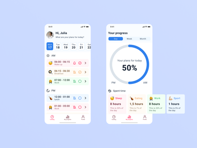 """Time manager app """"Working tracking"""" app icon tracking work working 2020 ix ui mobille app mobile art direction app ui  ux ios dribbble design art"""