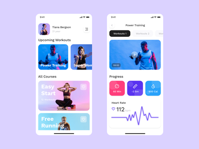 Fitness app fitness app fitness mobille app mobile ios app ui art direction art ui  ux dribbble design