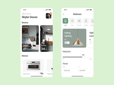 Smart House smart house mobille app mobile ios app ui ui  ux art direction art dribbble design