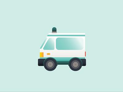 Ambulance illustrator vector ui illustration icon design art animation