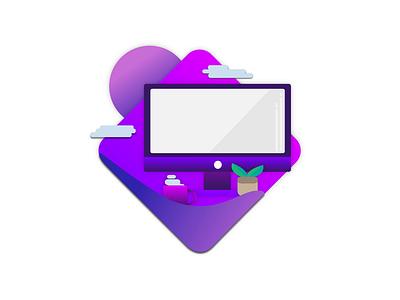 Creative graphic design minimal flat illustrator vector illustration icon design art animation