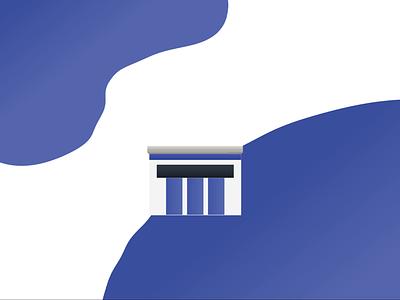 Haus flat minimal graphic design illustrator vector illustration icon design art animation