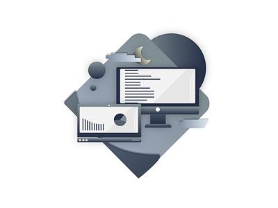 Coding minimal branding graphic design flat illustrator illustration icon design art animation