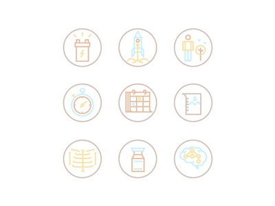 Some of the icons for health supplement packaging.