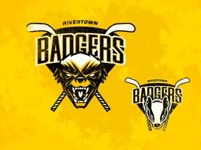 The Badgers branding derek mohr michigan sports sports logo animal logos logo design logo yellow hockey logo hockey
