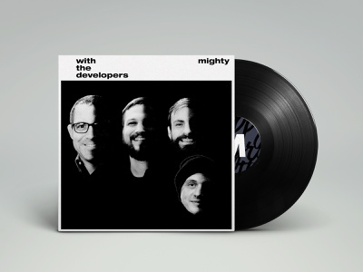 Web Dev Vinyl Mockup design design team studio mockup psd web developer album cover music beatles parody vinyl mockup