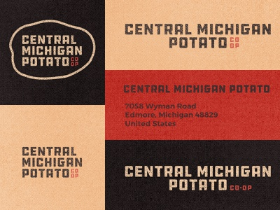 Central Michigan Potato Co-op 02 co-op inspiration responsive logo brown farming farm 70s ddc hardware vintage retro branding badge graphic design typography michigan derek mohr textured gritty small business potato