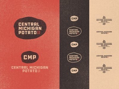 Central Michigan Potato Co-op 03 co-op inspiration responsive logo brown farming farm 70s ddc hardware vintage retro branding badge graphic design typography michigan derek mohr textured gritty small business potato