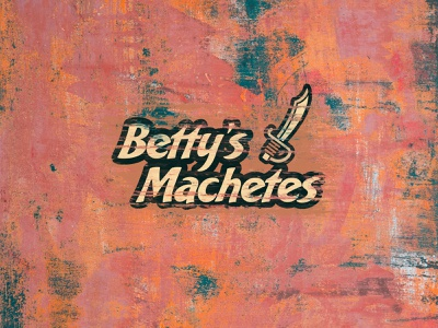 Betty's Machetes minimal simple lettering bakery script cartoon knife southwest mexico machete sword orange colorful bobs burgers pun graphic design branding logo design typography derek mohr