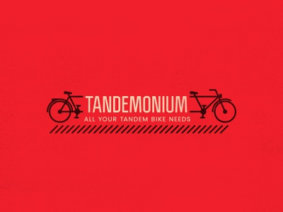 Tandemonium | All Your Tandem Bike Needs redesign poster mockup sudtipos politica bike shop biking bike red derek mohr typography logo design branding graphic design pun bobs burgers cartoon lettering simple minimal