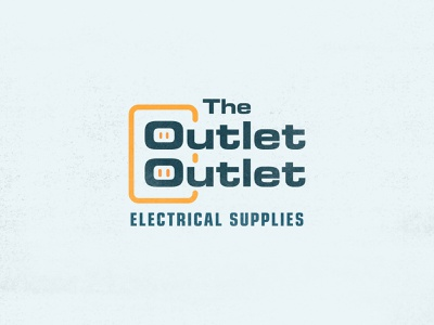 The Outlet Outlet | Electrical Supplies contest fan art sans serif store mall green electronic plug derek mohr typography logo design branding graphic design pun bobs burgers colorful cartoon lettering simple minimal