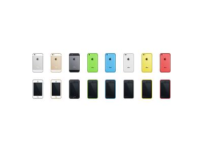 iPhones iphone 5s 5c icon small apple