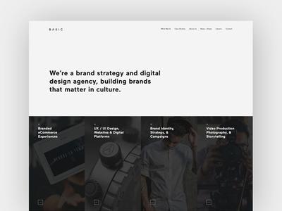 Introducing the New BASIC Agency Website content editorial ui ux digital design web design landing homepage agency basic basic agency