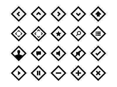 Square Icon Set icons thenounproject square icon set flat free diamond web squarecon collection ui
