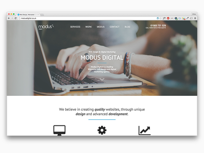 New Modus Digital Website web parallax animation type agency website development design