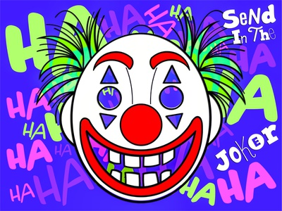 Send In The Joker photoshop vector illustration vector art character movie joker villian superhero illustrator graphic design digital illustration digital art vector design illustration