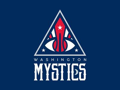 Washington Mystics Logo Concept redesign sport sports basketball nba wnba mystical mystics washington
