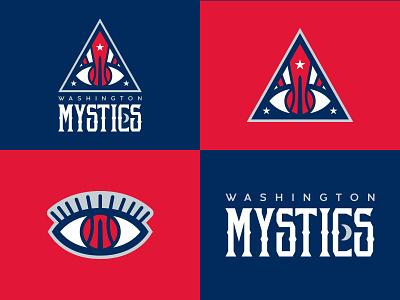 Washington Mystics Identity Concept redesign identity branding logo sport sports basketball nba wnba mystical mystics washington