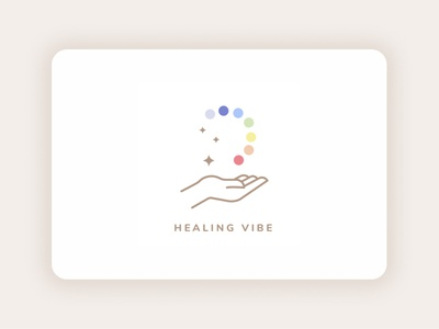 Healing Vibe flat minimal ux ui vector logo illustration design branding designer