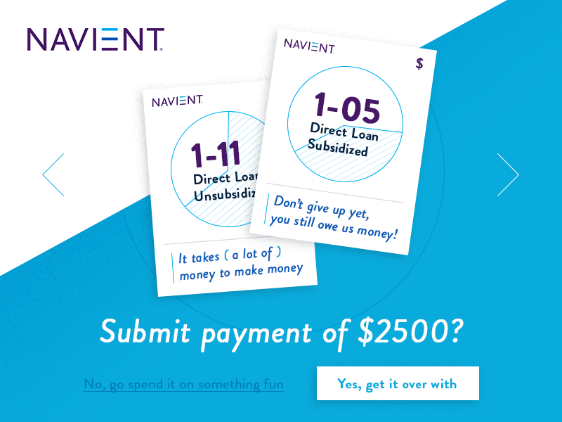 Design Challenge - Loans loans student loans identity get it over with inspirational navient product page design challenge