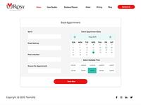 Book Appointment ui web design