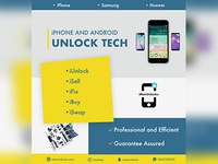 Iman Phone Unlocking Services branding design
