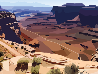 Canyonlands Illustration landscape desert illustrator illustration