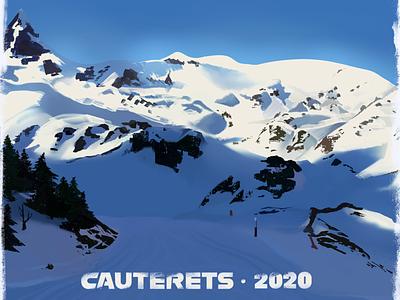 Cauterets Study photo study procreate illustration