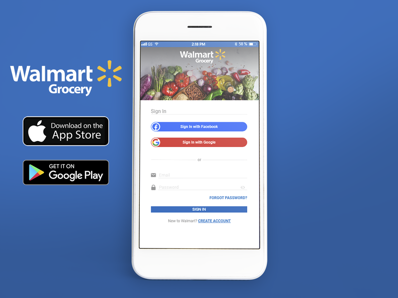 Walmart Grocery App - Sign In Redesign