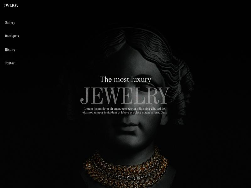 Medusa Jewelry website design branding webdesign shop jewelry website web ux ui illustration design