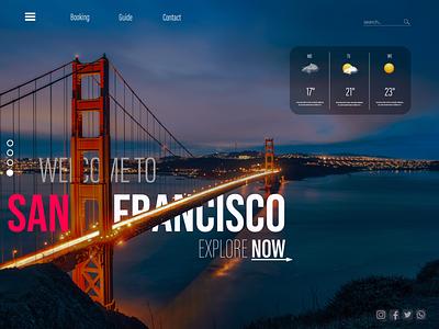 The Golden Gate user experience travel webdesign website web ux illustration design