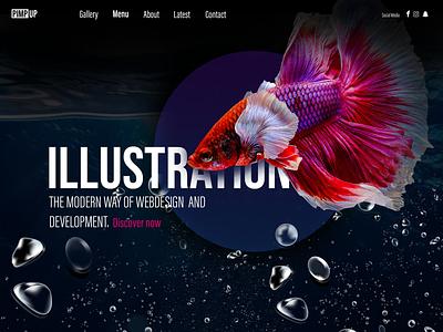 Bubble World vector marketing website design webdesign ui website web ux illustration design
