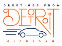 Detroit, Michigan - Postcard