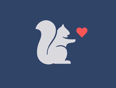 Help Raleigh logomark heart squirrel logo