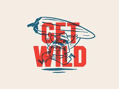 Burny Wild's Adventure Sauce typography illustration branding hot sauce