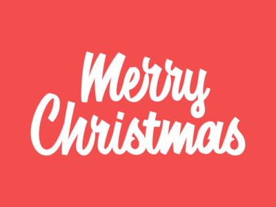 Merry Christmas christmas brush script handlettering lettering